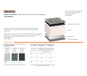 Product: Thermofol Inverted Roof (Loose Ballasted)