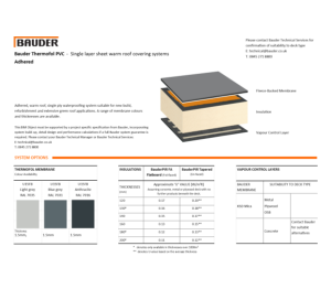 Product: Thermofol Warm Roof (Adhered)