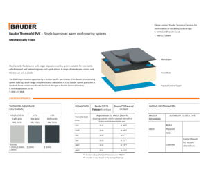 Product: Thermofol Warm Roof (Mechanically Fixed)