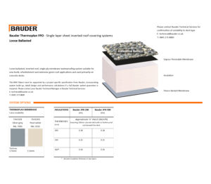 Product: Thermoplan Inverted Roof System (Loose Ballasted)