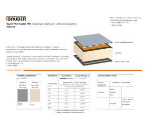 Product: Thermoplan Warm Roof (Adhered)
