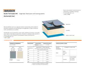 Product: Thermoplan Warm Roof (Mechanically Fixed)