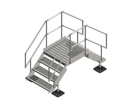 Revit, BIM, Download, Free, Components, Step Over,big,foot,systems,platform,2,3,4,step,access,secure,route,