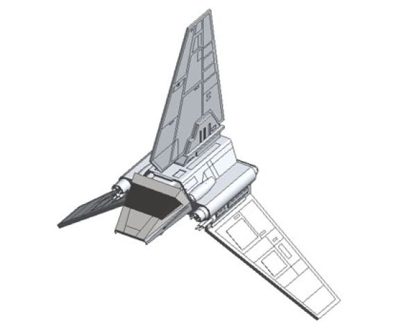 Revit, BIM, Download, Free,Components,Object,star,wars,shuttle,imperial,space,ship,world