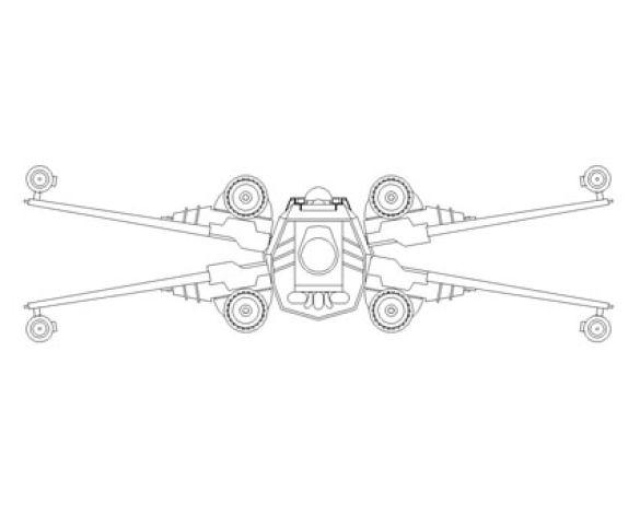 Revit, BIM, Download, Free,Components,Object,star,wars,x,wing,t65,star,fighter