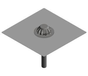 Image of Bitumen Collar Emergency Roof Drain - Gravity - 403.10