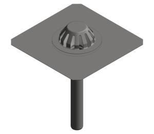 Image of Bitumen Emergency Roof Drain - Gravity - 401.10