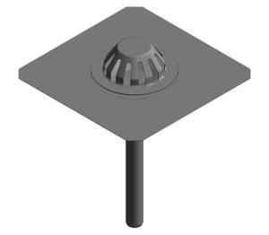 Image of Bitumen Emergency Roof Drain - Siphonic - 401.20
