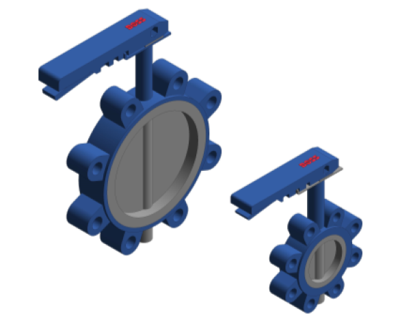 Product: Lever Operated Fully Lugged Butterfly Valve - PN16