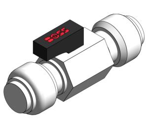 Product: Mini Ball Radiator Valve - Straight Radiator Valve