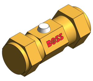 Product: Mini Ball Valve (Chrome Plated) Copper x Copper Compression Connections - Brass