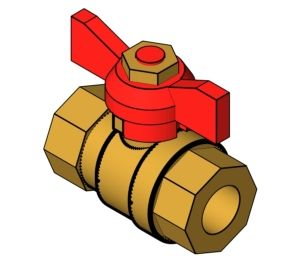 Product: Quarter Turn Ball Valve With Tee Handle - (1205)