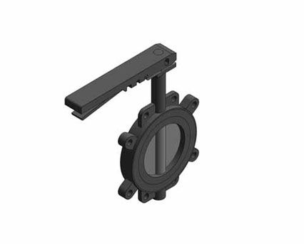 Revit, BIM, Store, Components, Architecture, Object,Free,Download,MEP,Mechanical,Pipe,Crane,Fluid,Systems,Valve,Butterfly,F624,GEM,Fully,Lugged,Lever,Operated