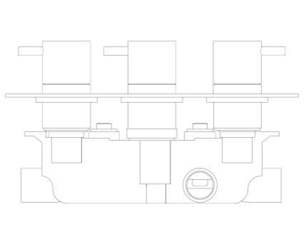 Revit, BIM, Store, Components, MEP, Object, Crosswater, Plumbing, Fixtures, Thermostatic, Shower, Valve, PRO2000RC