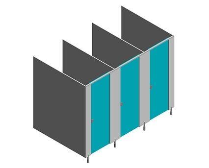 Image of Malvern Plus MFC Toilet Cubicles
