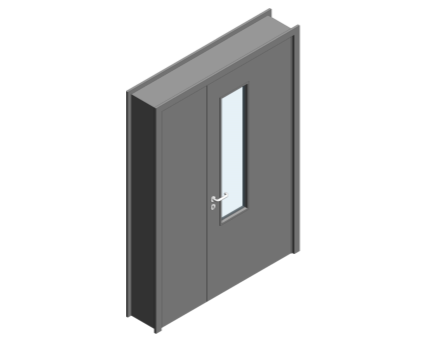 Revit, BIM, Download, Free, Components, Object, Door, Doorset, Bespoke, CW, Fields, and, Son, Limited, 54mm, Thick, Leaf, Half, Internal