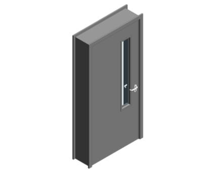 Revit, BIM, Download, Free, Components, Object, Door, Doorset, Bespoke, CW, Fields, and, Son, Limited, 54mm, Thick, Single, Internal, Door