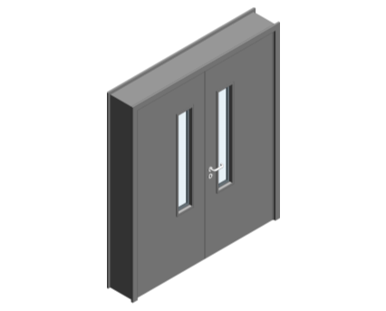 Revit, BIM, Download, Free, Components, Object, Door, Doorset, Bespoke, CW, Fields, and, Son, Limited, 64mm, Thick, Equal, Pair, Internal