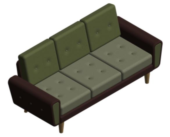 Revit, BIM, Furniture, Family, UK, British, Furnishings, Seating, Interior, Design, deadgood, dead, good, Harvey, sofa