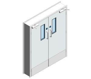 Product: Dortek Hygienic Hinged Doors - Fire Rated & Lead Lined