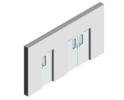 Bim, Revit, 2014, Components, Fire, Rated, GPR, Frame, Dortek, Hinged, Doors, Single, Stainless, Steel, Double, Hygienic, Lead, Lined