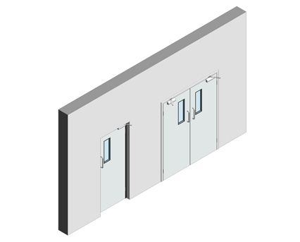 Bim, Revit, 2014, Components, Fire, Rated, GPR, Frame, Dortek, Hinged, Doors, Single, Stainless, Steel, Double, Hygienic