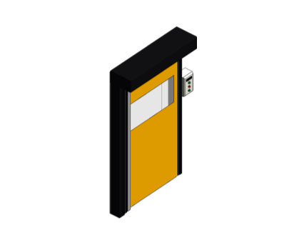 Bim, Revit, Components, Fire, Rated, GPR, Frame, Dortek, Doors, Single, Novosprint, Mono, High, Speed, Electric