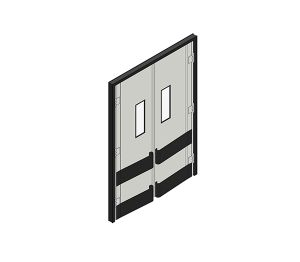 Product: Dortek Retail Crash Doors - Double Action