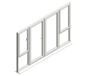 Product: Diamond Suite - French Door - Open Out - Window Combo