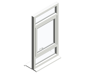 Product: Top Swing Fixed Over Single Over Fixed Window