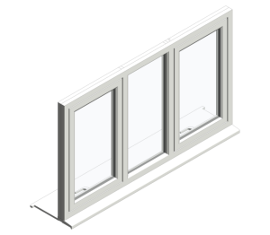 Product: Top Swing Single Next to Fixed Next to Single Window