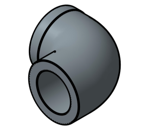 Product: PVC - Plain Threaded Elbows 90 Deg