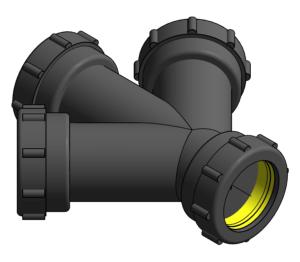 Product: Vulcathene Mechanical - Double Wye - W38