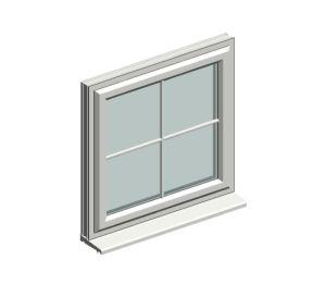 Product: Eurologik70 - Chamfered Top Hung Window