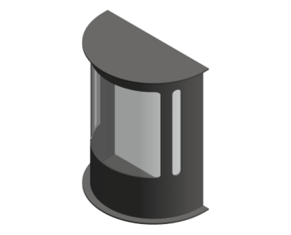 Revit, Bim, Store, Components, MEP, Object, Green, Lighting, Mechanical, Equipment, 14, 316, Marine, Grade, Stainless, Steel, P, Lux, Half, Lantern, GL4224LU