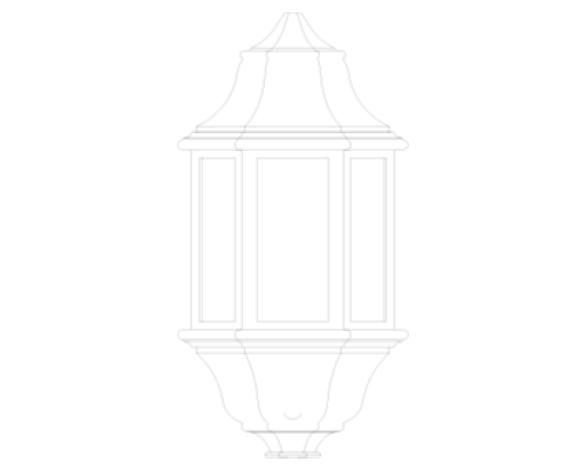 Revit, Bim, Store, Components, MEP, Object, Green, Lighting, Mechanical, Equipment, 14, Black, Aluminium, Three, Panel, P, Lux, Half, Lantern, GL5061LU