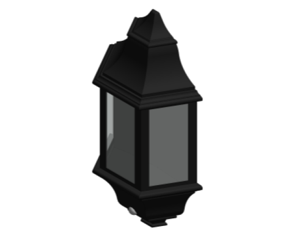 Revit, Bim, Store, Components, MEP, Object, Green, Lighting, Mechanical, Equipment, 14, Black, Aluminium, Three, Panel, P, Lux, Half, Lantern, GL5061LU