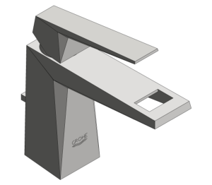 Product: Grohe Allure Brilliant - Single Lever Basin Mixer M Size - 23029000