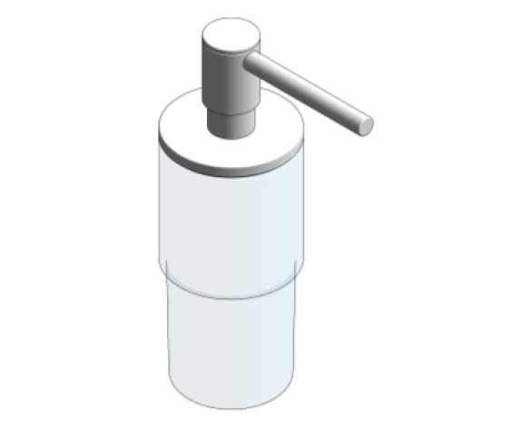 Revit, Bim, Store, Components, MEP, Object, Grohe, Plumbing, Fixtures, METRIC, Grohe, Soap, dispenser, 40306003