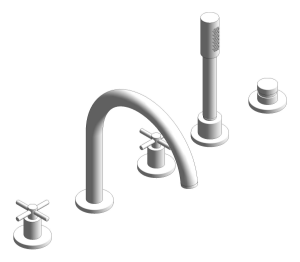 Product: Grohe Atrio Tub filler with cross handles, handshower and diverter (5-hole) 19923003