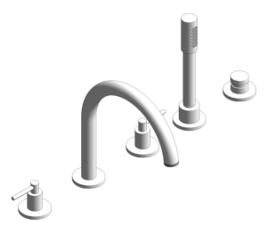 Product: Grohe Atrio Tub filler with lever handles, handshower and diverter (5-hole) 19922003