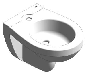 Product: Grohe Bau Ceramic - Bidet WC Wall Hung  - 39433000