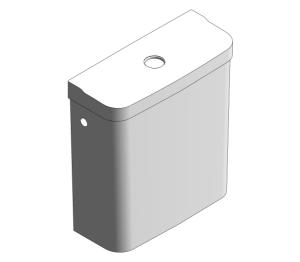 Product: Grohe Bau Ceramic - Exposed Flushing Cistern - 39437000