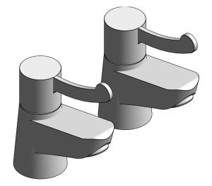 Product: Grohe Costa Pillar Tap Basin - 20427000