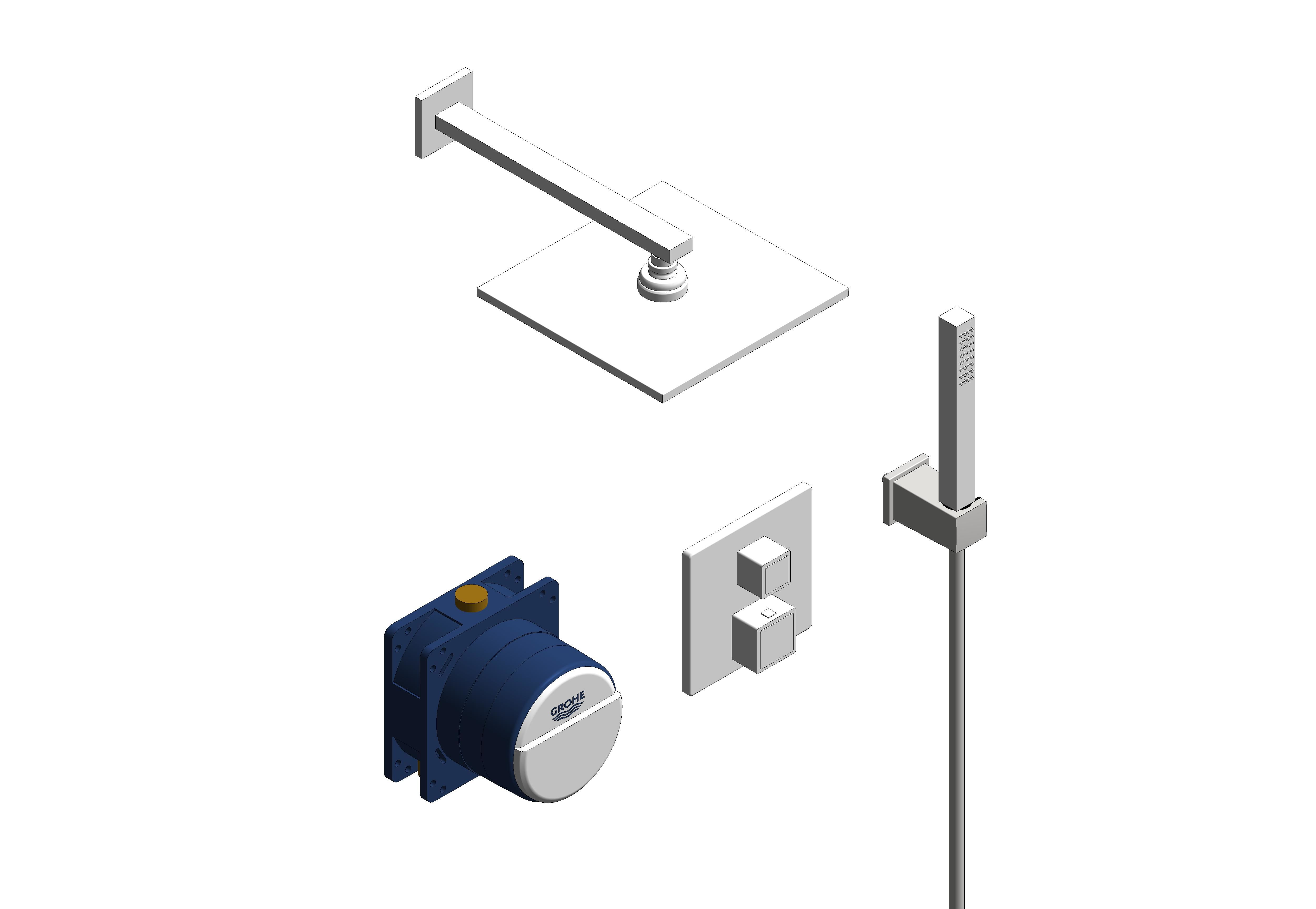 Image of Grohe Cube Perfect Bundle 34741000