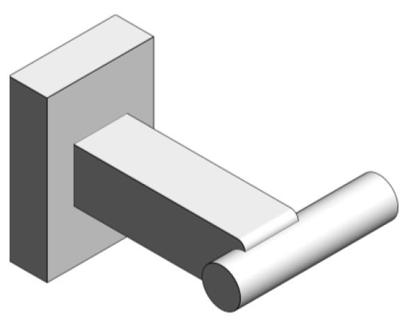 Revit, Bim, Store, Components, MEP, Object, Grohe, Plumbing, Fixtures, 14, METRIC, Essentials, Cube, Robe, Hook, 40511000