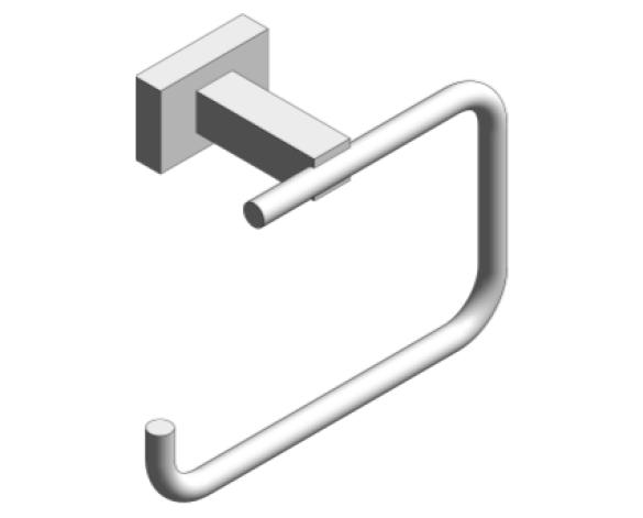 Revit, Bim, Store, Components, MEP, Object, Grohe, Plumbing, Fixtures, 14, METRIC, Essentials, Cube, Toilet, Roll, Holder, 40507000