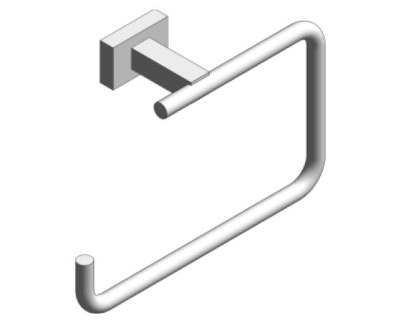 Revit, Bim, Store, Components, MEP, Object, Grohe, Plumbing, Fixtures, 14, METRIC, Essentials, Cube, Towel, Ring, 40510000