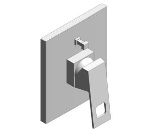 Product: Grohe Eurocube Single-Lever Bath Shower Mixer Trim - 19896000