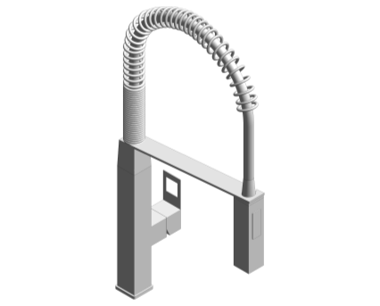 Revit, Bim, Store, Components, MEP, Object, Grohe, Plumbing, Fixtures, 14, METRIC, Eurocube, OHM, Single, Lever, Sink, Mixer, Profi, Spray, Medium, Size, 30273001